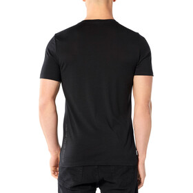 Icebreaker Tech Lite 7 Pinnacles Top Manga Corta Hombre, black